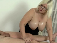 Grandmother masseuse brit rides..