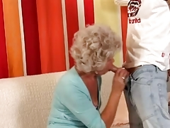 Granny in Glasses Fucks the Chum