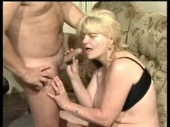 German granny Greta gets good cock