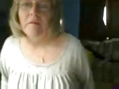 54 years Busty Granny, homeAlone..