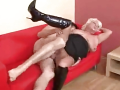 Hot Busty Blonde Granny Banging..