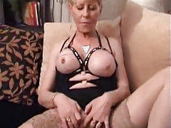 Tarty Granny in Stockings Doubles..