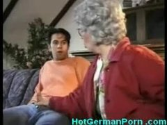 German grandmother catches her..