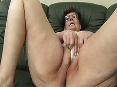 Granny Panty Stuffing and Dildo..