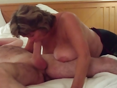 Busty Of age Swallows All of Big..