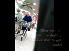 Unaware Granny Upskirted at be..