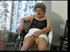 Teasing Grey Granny In Stockings