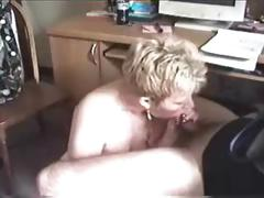 Grown-up Lady Sucks A Small Cock
