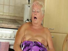 Mature blondie fingering  twat