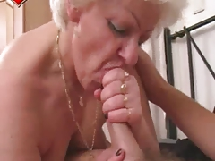 Enjoy ton of hottest scenes of grannies getting mad of huge fat cocks blowjobs!