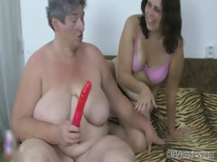 Hellacious old whore gets horny