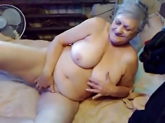75yr ancient Busty Granny Finger..