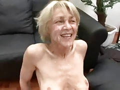 Skinny peaches GILF gets one..