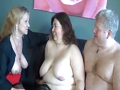 Mature together with BBW Triple