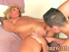 Granny fucked by younger dude