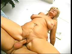 Old blond fat ass drilled by..