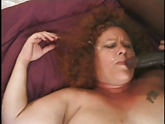 Fat And Furry Redhead Granny Gets..