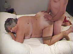 BBW granny doggy together with..