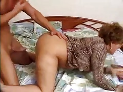 Sexy Older Woman In Glasses Fucks..