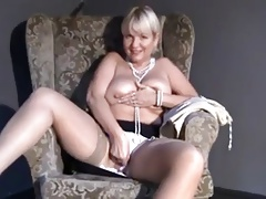 Mature Mom upskirt, flashing,..
