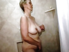 Granny takes a shower
