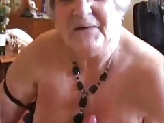 Handjob excited grandmother..