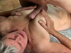 Young Guy Fucks Chunky old granny..