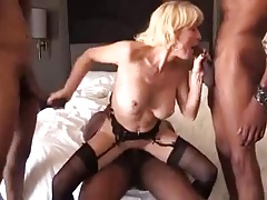 Blonde mature gilf pitch-black..