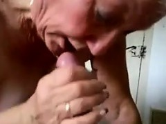 Busty Granny Gives A Blowjob And..