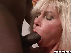 Mom gets black cock up their way..