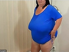 Chubby granny with big tits and..