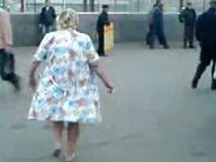 Russian granny almost basic close..