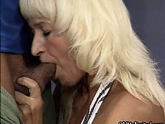 Nasty blonde whore gets horny..