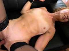 Horny old redhead fucks younger..