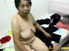 Asian Grandma succeed in dressed..
