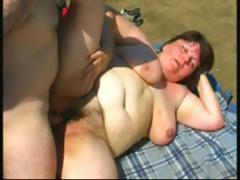 Obese brunette mature toys out of..