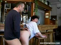 53 year age-old bar guv fucked by..