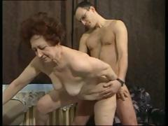 German brunette granny gets a..