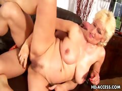 Hottest blonde milf nailed to a..