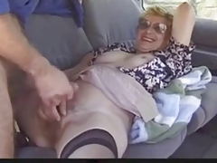 Outdoor mature laddie loves Dogging