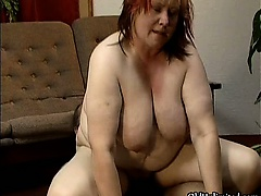 Dirty fat housewife having an..