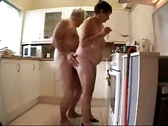 Old couple having fun. Amateur..