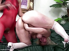 Full-grown mom fisted hard by..