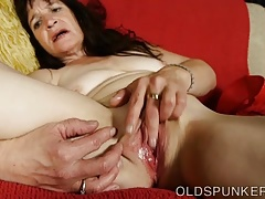 Magnificent mature brunette fucks..
